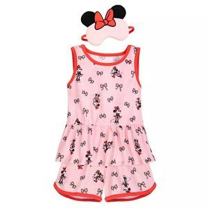Minnie Mouse PJ Set and Sleep Mask for Girl 3
